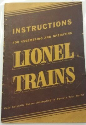 1939 Vintage Instructions for Assembling and Operating Lionel Trains