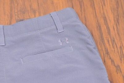 Under Armour Match Play Cargo Shorts Flat Front Gray Boy's Large L