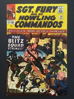 Sgt. Fury and His Howling Commandos #20 (Jul 1965, Marvel) CLASSIC WAR SERIES