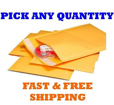 "#0 6x10 KRAFT BUBBLE MAILERS SHIPPING MAILING PADDED BAGS ENVELOPES 6"" x 9"""