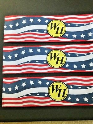 10x Waffle House Paper Hats. Limited Edition Red/White/Blue