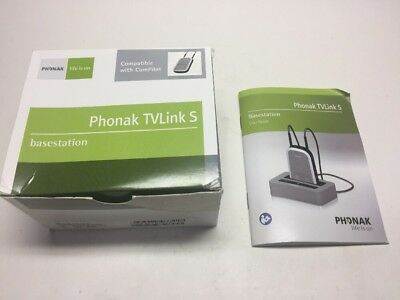 Phonak TVlink S Base station For ComPilot New In Open Box FREE SHIP KWC-TVLINK2