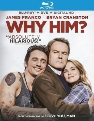 Why Him (Blu-ray DISC ONLY) NO CASE NO ART SHIPS FAST NEVER VIEWED
