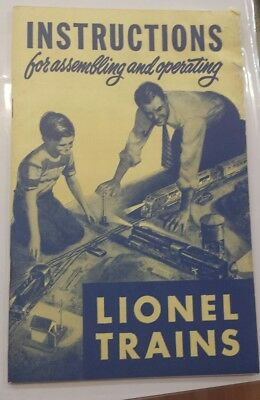 1950 Instructions For Assembling And Operating Lionel Trains