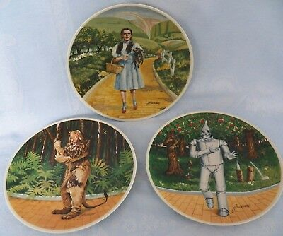 Vintage Knowles Wizard of Oz Limited Edition 3 Collector Plates James Auckland