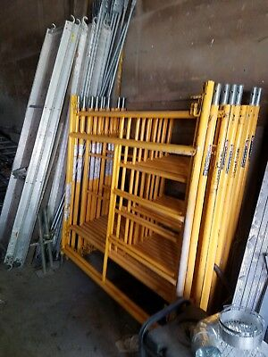 yellow scaffolding used 5' x 5' x 7', 8 sections (40 ft) very good condition