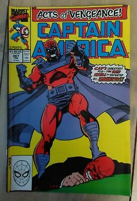 Captain America Vol 1 #367 (1990) Acts of Vengeance Magneto VF+ Combined P&P 25p