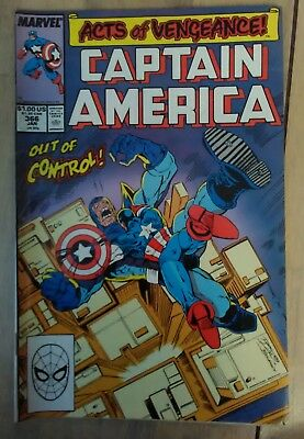 Captain America Vol 1 #366 (1990) Acts of Vengeance Magneto VF+ Combined P&P 25p