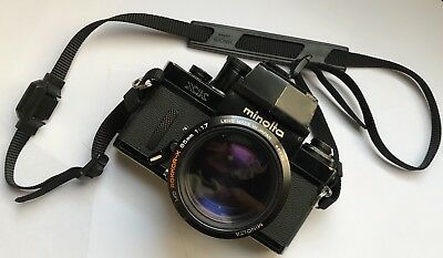 Vintage MINOLTA XK 35mm SLR (X1, XM) Film Camera with MD ROKKOR-X 85mm f1.7 Lens