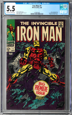 Iron Man #1 CGC 5.5 (May 1968, Marvel) First Issue, Gene Colan art Goodwin story