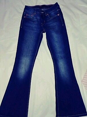 Girls Levi Denim Jeans Size 7 Very Cute in Great Condition