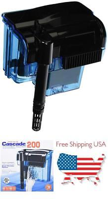 Aquarium Pump Hang On With Quad Filtration System Cleans For 55 Gallon Fish Tank