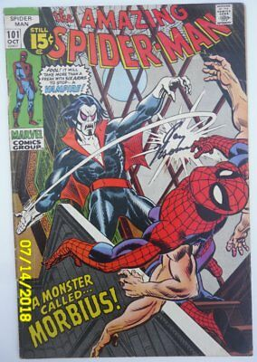 The Amazing Spider-Man #101 Oct 1971  Marvel. First Morbius! Signed  Roy Thomas!