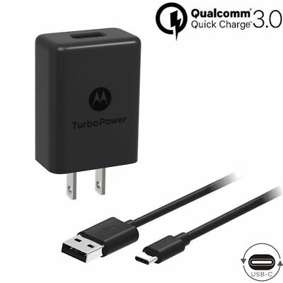 Motorola TurboPower 15+ QC3.0 USB to Type C Charger for Moto Z Z2 Force XT1789