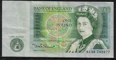 [X-388] Bank of England One Pound Banknote