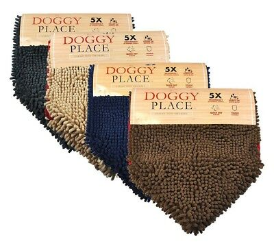 (Brown) - My Doggy Place - Ultra Absorbent Microfiber Chenille Dog Bath Dry