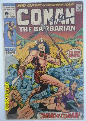 Conan the Barbarian (Marvel) #1 1970  - Signed By: Roy Thomas