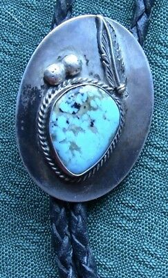 Navajo Sterling Silver Early Phase Old Bolo Tie