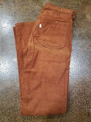 Vintage 70s Levi's Corduroy Pants 33x34 Deadstock Flare 646 Bell Bottom USA Made