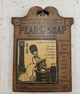 Pears Soap Vintage Style Wooden Advertising Sign
