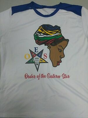 Order of the eastern star polyester fitted t-shirt. Size large.