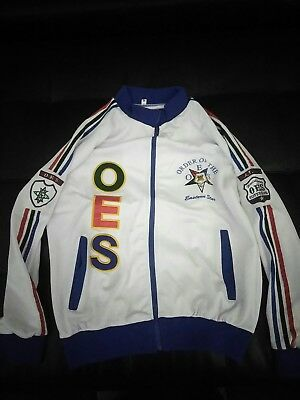 Order Of Eastern Star Track Jacket.....Size Medium--3xl....