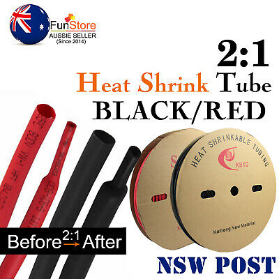 6mm 8mm 30mm 40mm 50mm Heat Shrink Tube Sleeve Sleeving 2:1 Electrical Wire Wrap