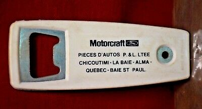 Vintage BOTTLE OPENER Quebec Ford Motorcraft Chicoutimi Baie St. Paul Alma