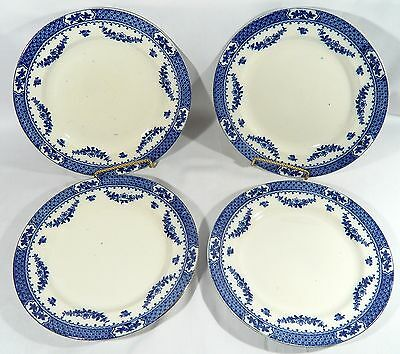 "4  F. WINKLE & Co. Antique 1905 KNOWSLEY Whieldon Ware  10 1/2"" DINNER PLATES"