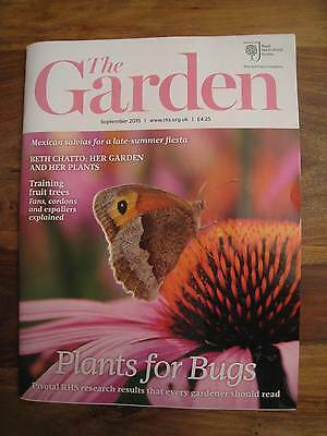 RHS The Garden magazine issues September 2015, Beth Chatto, training fruit trees