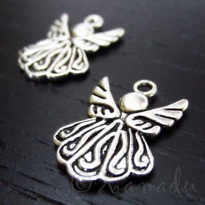 19mm Antiqued Silver Plated Pendants C4919-10 Create Charms 20 Or 50PCs