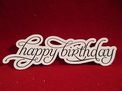 18 Printed Happy Birthday Die Cuts.....................cardmaking