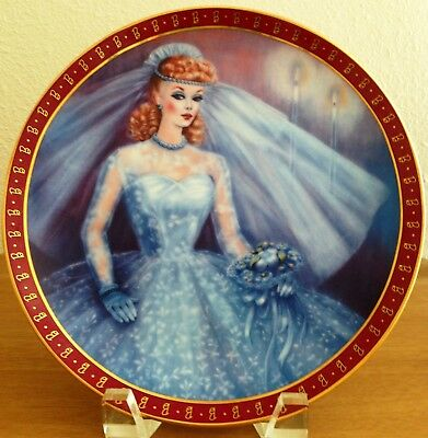 """Danbury Mint HIGH FASHION BARBIE """"The 1959 Barbie Bride-To-Be"""" Collector Plate"""
