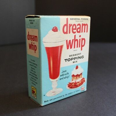 Vintage 1958 Dream Whip Packaging – Unopened Box NOS