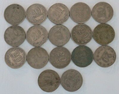 20 Centavos Argentina 1920-1942 Coin Lot Of 17 World Foreign Combined Ship D36