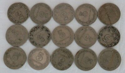 5 Centavos Argentina 1918-1941 Coin Lot Of 15 World Foreign Combine Shipping D34