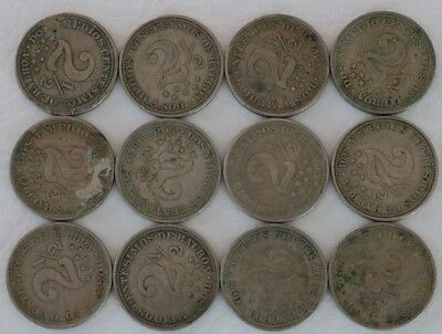 2 1/2 Centesimos Panama 1907-1916 Coin Lot Of 12 World Combined Shipping D33
