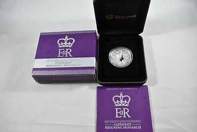 2015 Australian HM Queen Elizabeth 2 Longest Reigning Monarch 1 oz silver Proof
