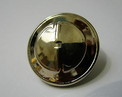 Gucci 17mm Diameter Metal Shank Button Glossy Silver Tone - AUTHENTIC - NEW