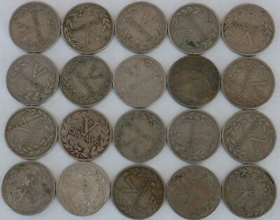 5 Centavos Colombia 1935-1946 Coin Lot Of 20 World Foreign Combined Shipping D28
