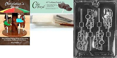 """Cybrtrayd """"Fire Truck Lolly"""" Chocolate Mould with Chocolatier's Bundle,"""