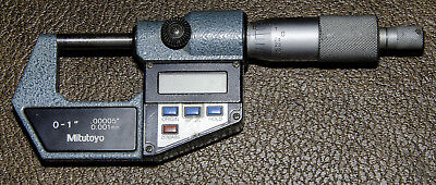 """Mitutoyo 293-761-10.   Digimatic Outside Micrometer, 0-1""""/ .00005"""" - 0.001 Used"""