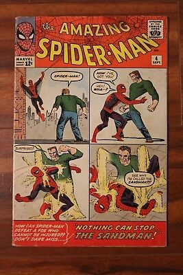 Amazing Spiderman #4 1st Appearance of Sandman VG cond. Amazing Book!