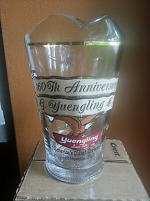 YUENGLING America's Oldest Brewery Glass Pitcher 160TH Anniversary 1829-1989 VTG