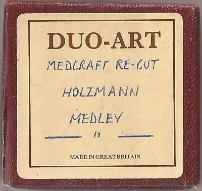 Pianola roll Duo-Art x 1 Abe Holzmann Medley selection of Marches