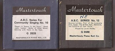 Pianola Rolls x2 Mastertouch Community Singing  - total of 10 tunes + WORDS