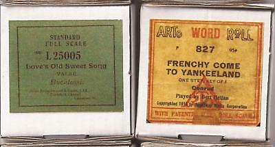 Pianola Roll x 2 World War One - Love's old Sweet Song / Just a Song at Twilight