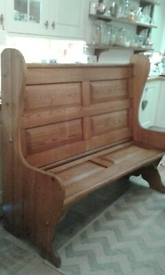 church pew bench