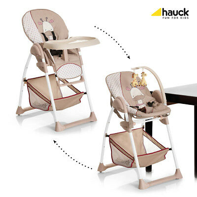 Hauck Sit n Relax 2-in1 Highchair Baby Bouncer (GIRAFFE) with adjustable heights