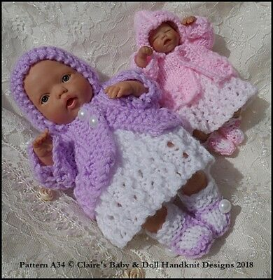 e652b591e BABYDOLL HANDKNIT DESIGNS Knitting Pattern Summer Pram Set 8-13 ...